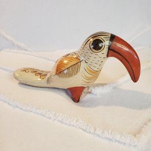 Tonala Mexican Ceramic Tucan Vintage Handmade